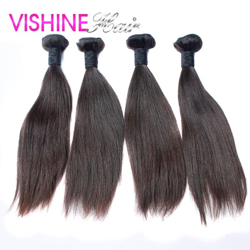 Brown Color Cheap Brazilian Virgin Hair Straight 4Pcs Top Grade Brazilian Virgin Hair Weave Ms Lula Hair Fasting Shipping<br><br>Aliexpress