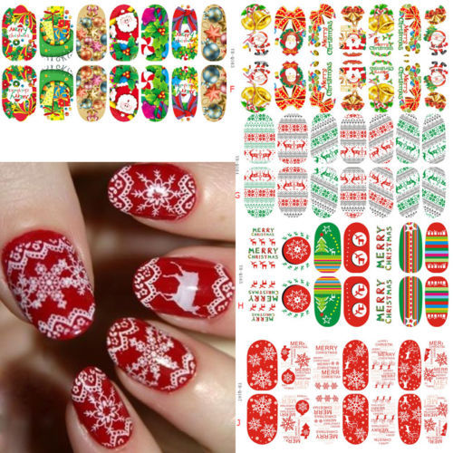 1 X Christmas Snowflake Luminous Glow Full Wraps Nail Art Stickers Decal Foils Tips(China (Mainland))