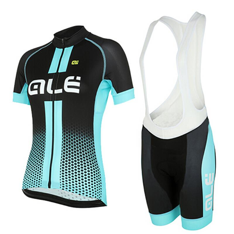 New ! Summer Breathable Pro Cycling Clothing 2016 ALE Cycle Clothes Ropa Ciclismo/Racing Bike Jersey Suit Blue Red(China (Mainland))