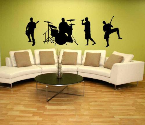 Free shipping Fashion Music Band Guitar Drum Rock Group