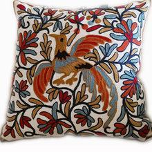 Decorative Cotton Embroidery Cushion Cover,45X45Cm,Square Sofa Cushion,Car Cushion Cover,Bedding Decorative Throw Pillow Case(China)