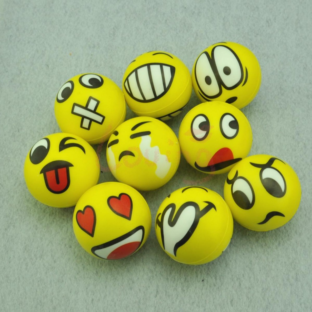 """WholeSale 5 X 2.1"""" Crazy Faces Hand Wrist Exercise Stress Relief Squeeze Soft Foam Ball(China (Mainland))"""