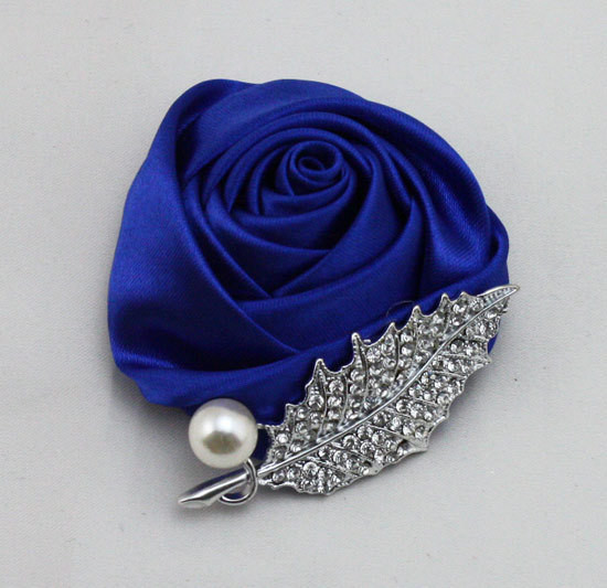 12 Colors Brand New Wedding Groomsman Groom Boutonniere Party Prom Man Corsage Hand Custom Made Satin Rose Men Suit Brooch Pin
