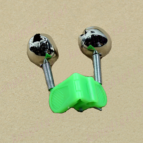 C18 5PCS Outdoor Twin Rod Bells Ring Fishing Bait Lure Accessory alarm product(China (Mainland))