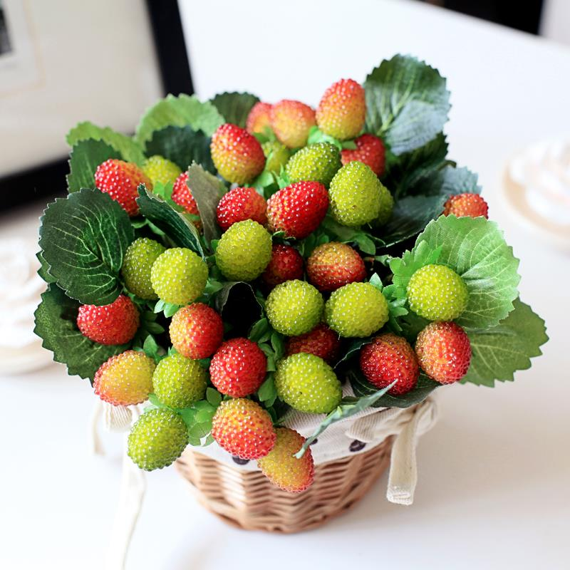 9 small fruit decoration flower artificial fruit paddle for Artificial fruit for decoration