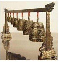 Chinese bronze bells royal rare music free shipping