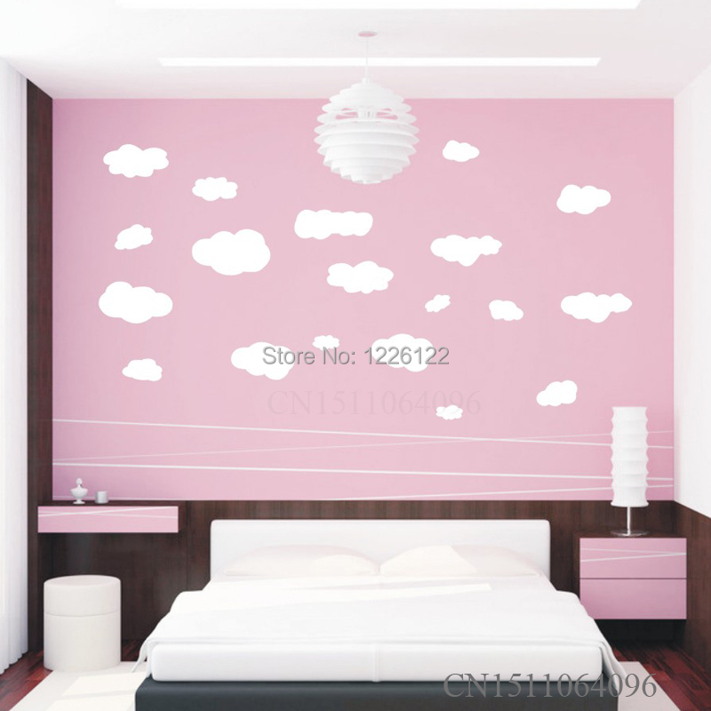 Nursery Wall Stickers - Cloud Wall Decals - Children Wall Decals babies quotes new products for 2015 45*100CM Free shipping(China (Mainland))