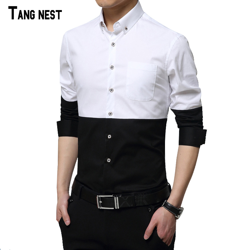 Buy tangnest 2016 new arrival men 39 s for Black shirt business casual