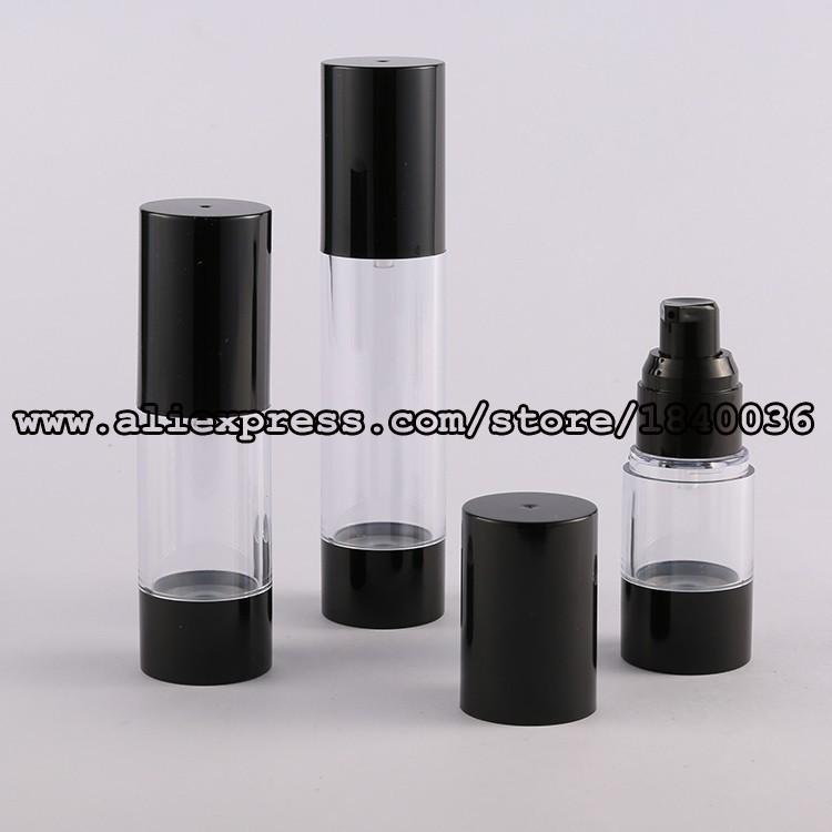 KZA27-15ml 30ml 50ml Black Base Airless bottle