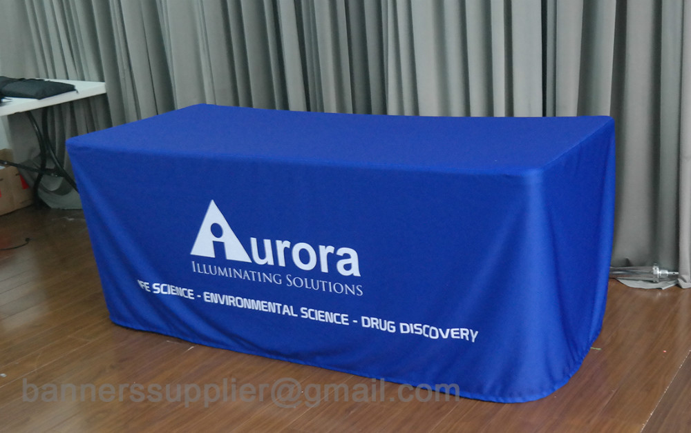 custom print table clothes, table cover, fitted table cloth (open back)(China (Mainland))