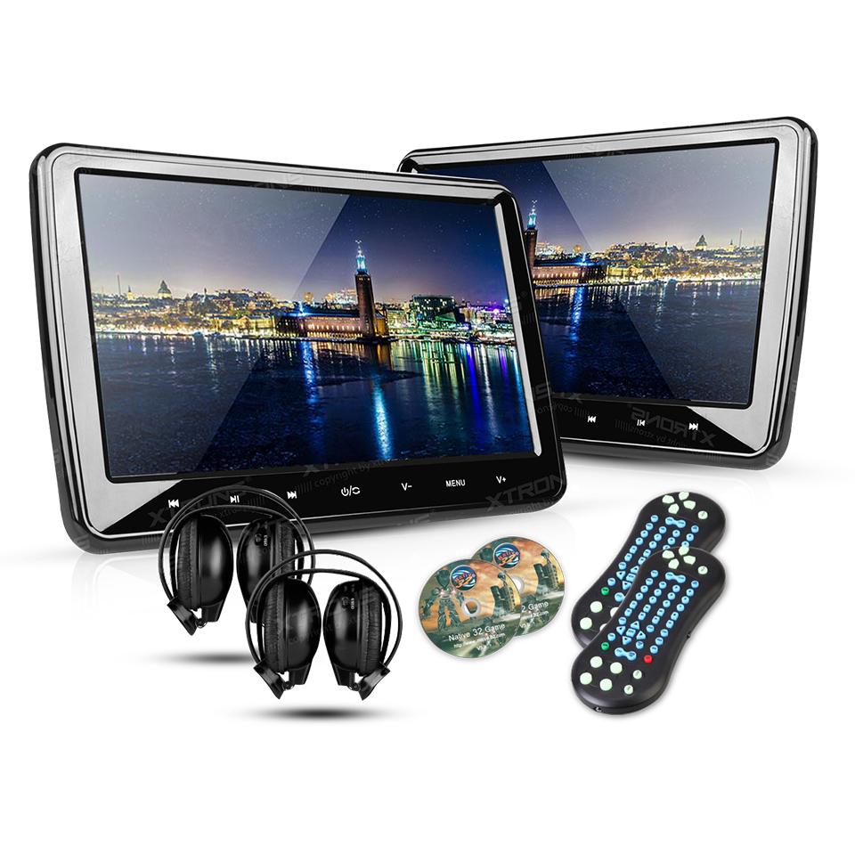 2 10 1 portable car headrest dvd player 1024 600 hdmi. Black Bedroom Furniture Sets. Home Design Ideas