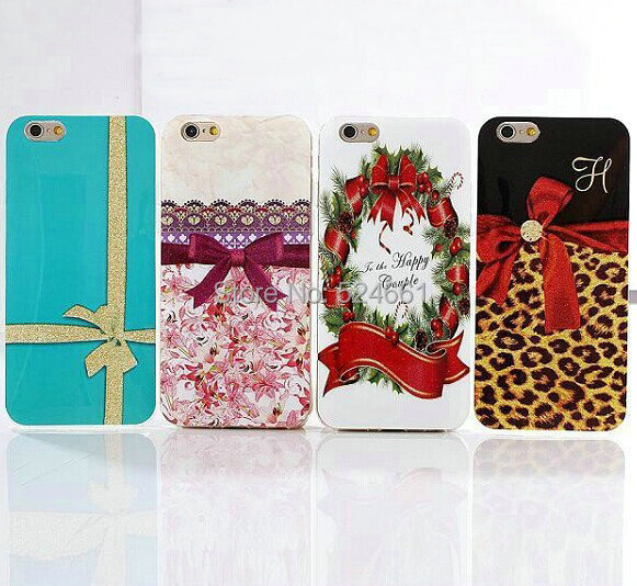 25 design available!2014 Colorful Fashion Bowknot Gold Dust Soft TPU Back Cover Case IPhone 6 phone case - Shenzhen Wei Jia Xing Electronic Co., Ltd. store