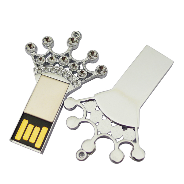 2016 new design 1gb 2gb 4gb 8gb 16gb pendrive U disk Thumb memory stick silver Metal Crown key shape usb 2.0 flash drive(China (Mainland))