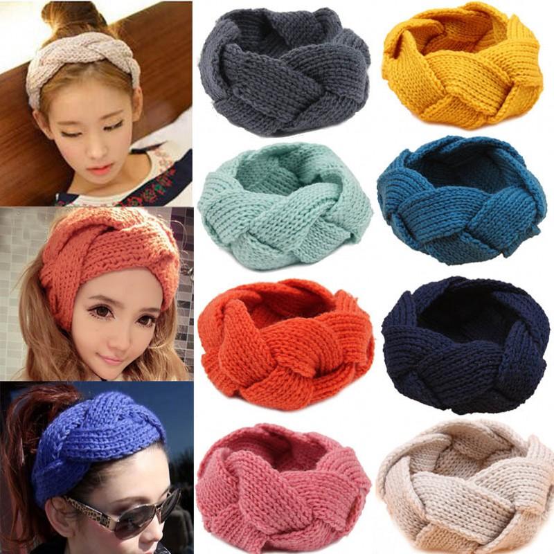 Fashion Women Crochet Twist Knitted Head wrap Headband Winter Ear Warmer Hair Band Soft Braid(China (Mainland))