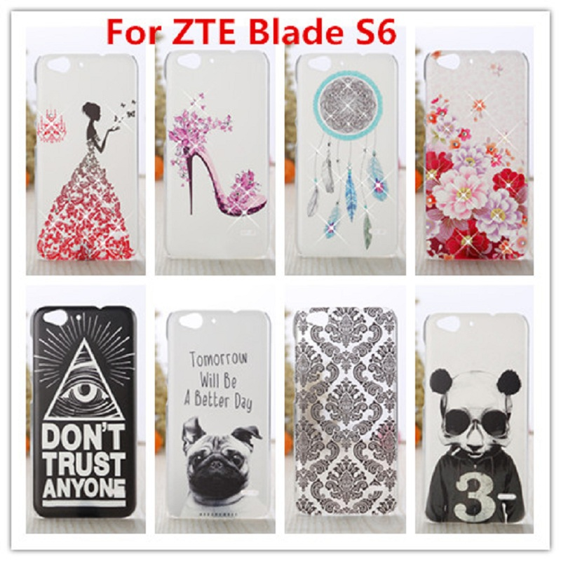 New ZTE Blade S6 Case /Luxury Crystal Diamond 3D Bling Hard Plastic Cover Case For ZTE Blade S6 (5 inch) Cell Phone Case(China (Mainland))