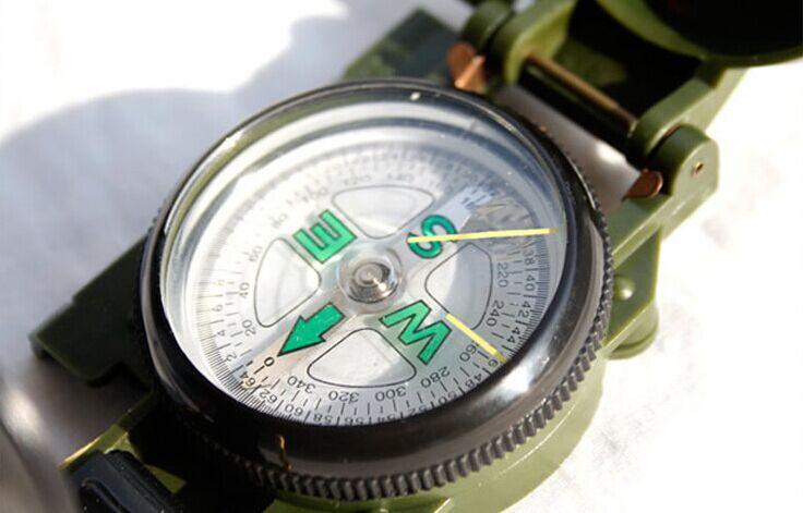 New Lensatic Compass Military Camping Hiking Army Style Survival Marching Metal(China (Mainland))