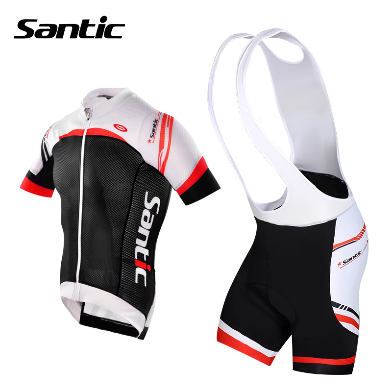 Santic Cycling Jersey Ropa Ciclismo Hombre Summer Breathable Bike Sportswear Short Sleeve Cycling Clothing Bicycle Jersey S-XXXL