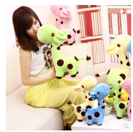 38cm lovely giraffe plush toy giraffe doll birthday , Christmas gift b4516(China (Mainland))