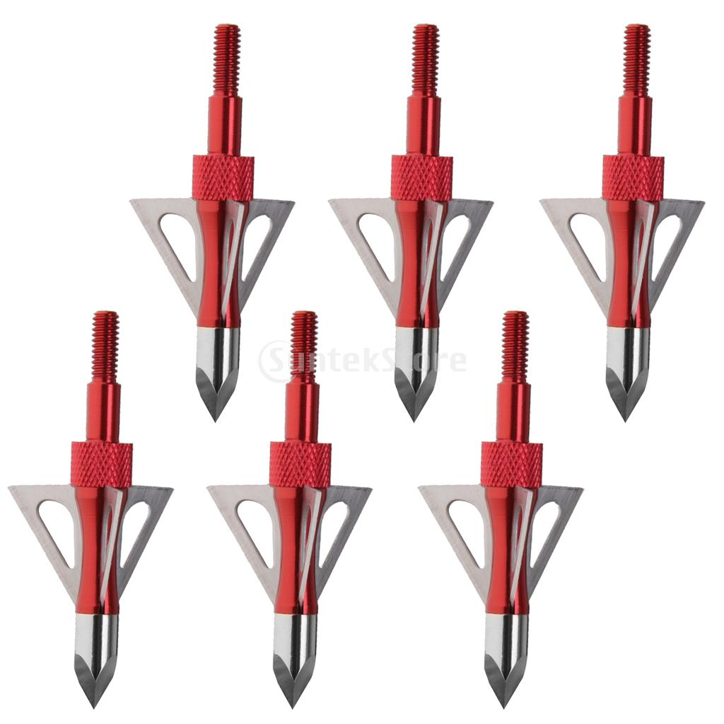 SUNTEK 6pcs Chase Broadheads Archery hunting 100 Grain 3 Fixed Blades Free Shipping