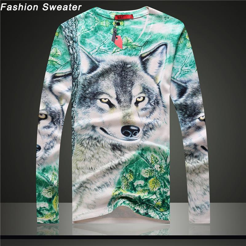 2015 Mens Pullover 3D Print Thin Sweaters V-Neck Wool Blend Knitted Casual Slim Fit Men Sweaters Multiple Patterns US/EU SIZEОдежда и ак�е��уары<br><br><br>Aliexpress