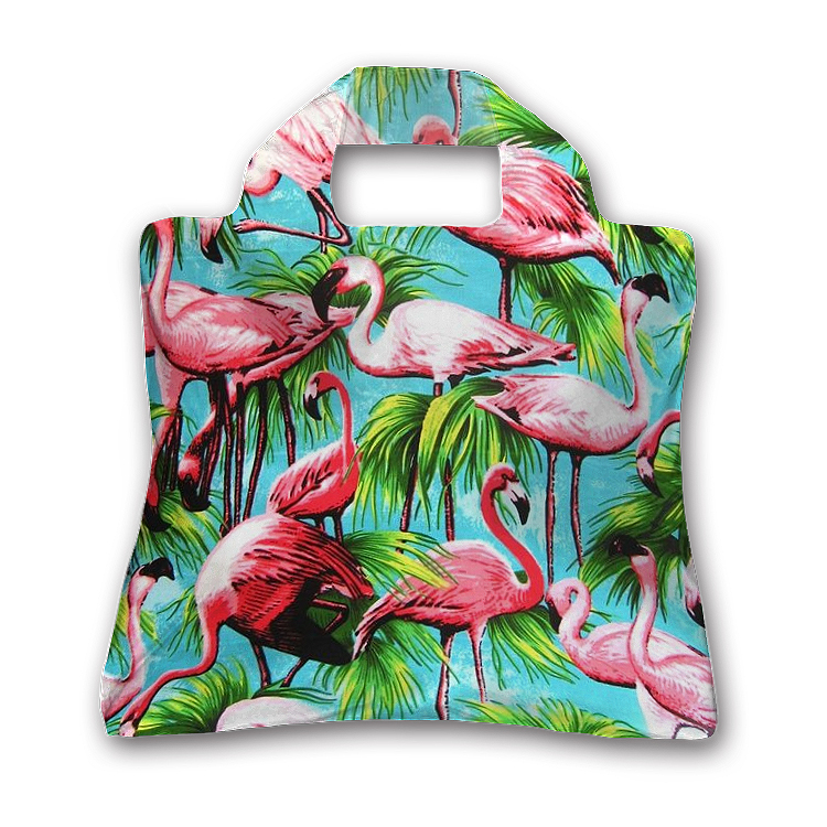 Fashion Flamingos Printed Female Polyester Handbag 100% Water Resistant Spring Rolls Bags(China (Mainland))