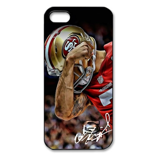 Genuine Cool Men San Francisco 49ers Colin Kaepernick Hard Plastic Back Mobile Protective Phone Case Cover For Iphone 4 4S 5 5S(China (Mainland))