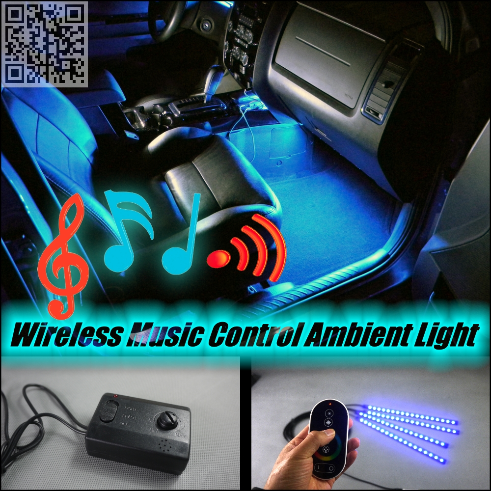 For Volvo V40 P1 Wireless Control Color Neon Glow Interior Under Dash Footwell Decorative Atmosphere Seat Accent Light(China (Mainland))