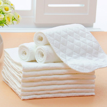 Reusable baby Diapers Cloth Diaper Inserts 1 piece 3 Layer Insert 100% Cotton Washable Baby Care Products(China (Mainland))