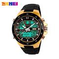 Men Military Sport Watches 2 Times Zone Backlight Quartz Chronograph Jelly Silicone Swim Dive Wrist Watch