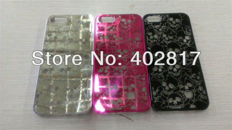 Skullcandy Skull Heads Hard Case Cover for iphone5 5g 50pcs/lot Free shipping(China (Mainland))