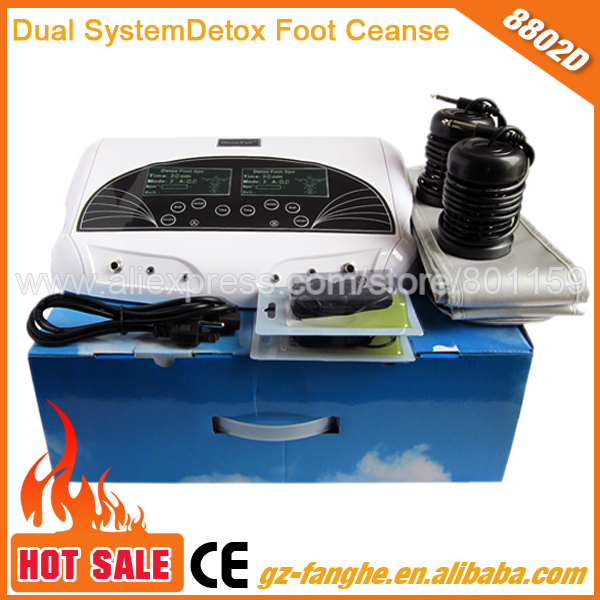 professional dual system ionic cleanse hydrosana detox foot spa(China (Mainland))