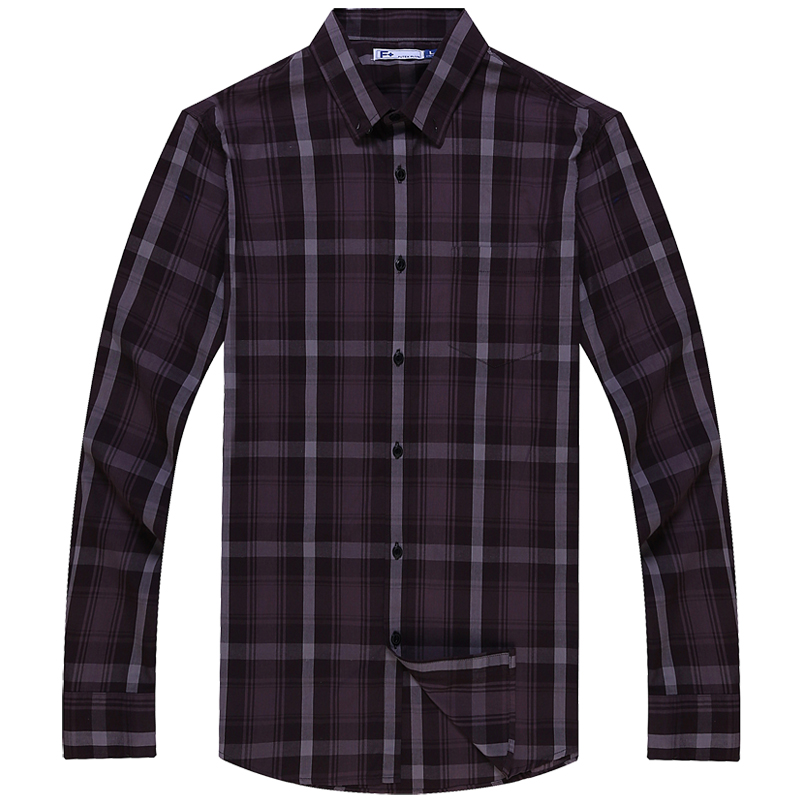2016 brand men shirt slim fit plaid business formal shirt for Men s dress shirt accessories