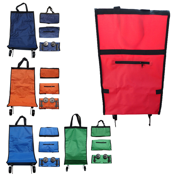 Rolling folding shopping cart portable shopping Cheap Big Capacity 40L foldable trolley bag with wheel Whosale