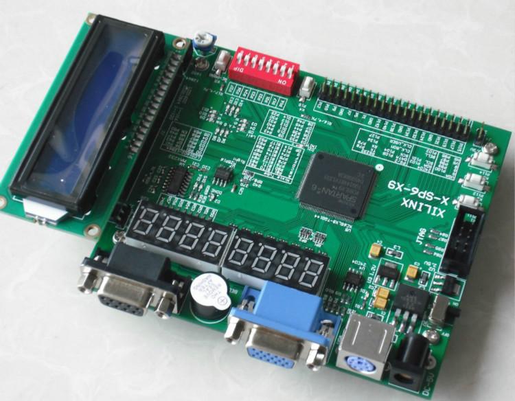 LCD1602+ xilinx fpga development board spartan6 xilinx spartan-6 xilinx board xilinx kit xc6slx9-tqg144(China (Mainland))
