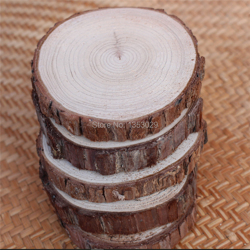 20pcslot DIY Handcraft Wood Material DIY Wood Crafts Log Sheet Vintage Wood Wedding Decorations Supplies Marriage Rustic Decor (2)