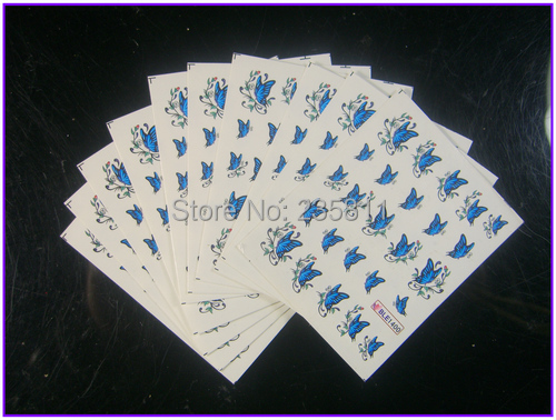 1/ LOT Nail Art Water Transfers Stickers Decals Decal Butterfly Bee Dragon Fly Bird - Jenny's nail beauty store