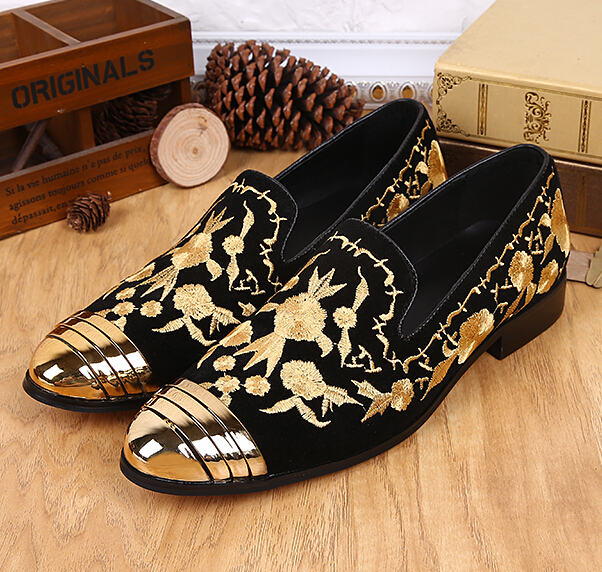 Gold And Black Shoes Men  galleryhipcom  The Hippest