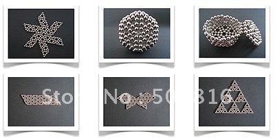 Free Shipping hot selling 3sets 3mm Silver Neocube Neo Cubes Magnetic Spheres Balls(China (Mainland))