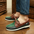2015 spring autumn fashion casual flat boat shoes handwork lace up men s shoes european style