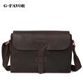 Men Vintage Crazy Horse Leather Messenger Satchel Laptop Briefcase Men s Bag Genuine Leather Shoulder Crossbody