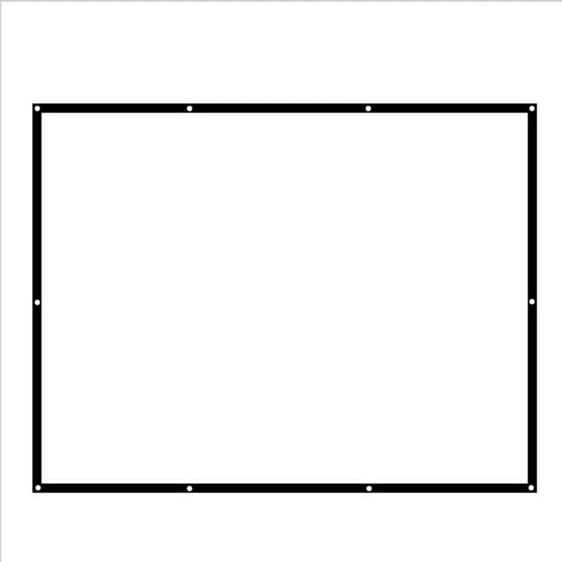 conception sp ciale tissu cran de projection 100 polegada 16 9 ratio pour home cinema centre. Black Bedroom Furniture Sets. Home Design Ideas