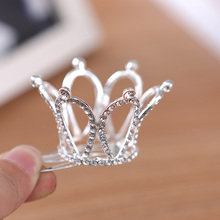 Bridal Wedding Crystal Rhinestone Crown Pageant Lead-tin Alloy Women Children Tiaras Hair Comb Headband For Girls 5219(China (Mainland))