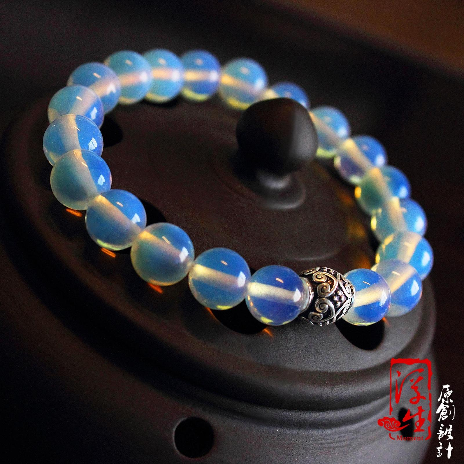 Moment natural opal pure silver bracelet silver moonlight female new arrival(China (Mainland))