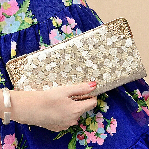 2015 Fashion Designer Women Wallets Quality Leather Wallet for Women Famous Brands Money Clip Bag Female Gold Ladies Purse(China (Mainland))