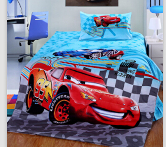 Christmas Gift car duvet cover children boys cute bedding set /kids car bed/dog print twin size kids bedding/Quilt Cover Set/(China (Mainland))