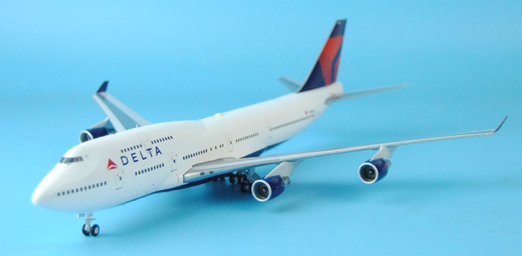 New Gemini Jets 1: 200 G2DAL582 Delta Airlines B747-400 N668US Alloy aircraft model Favorites Model(China (Mainland))