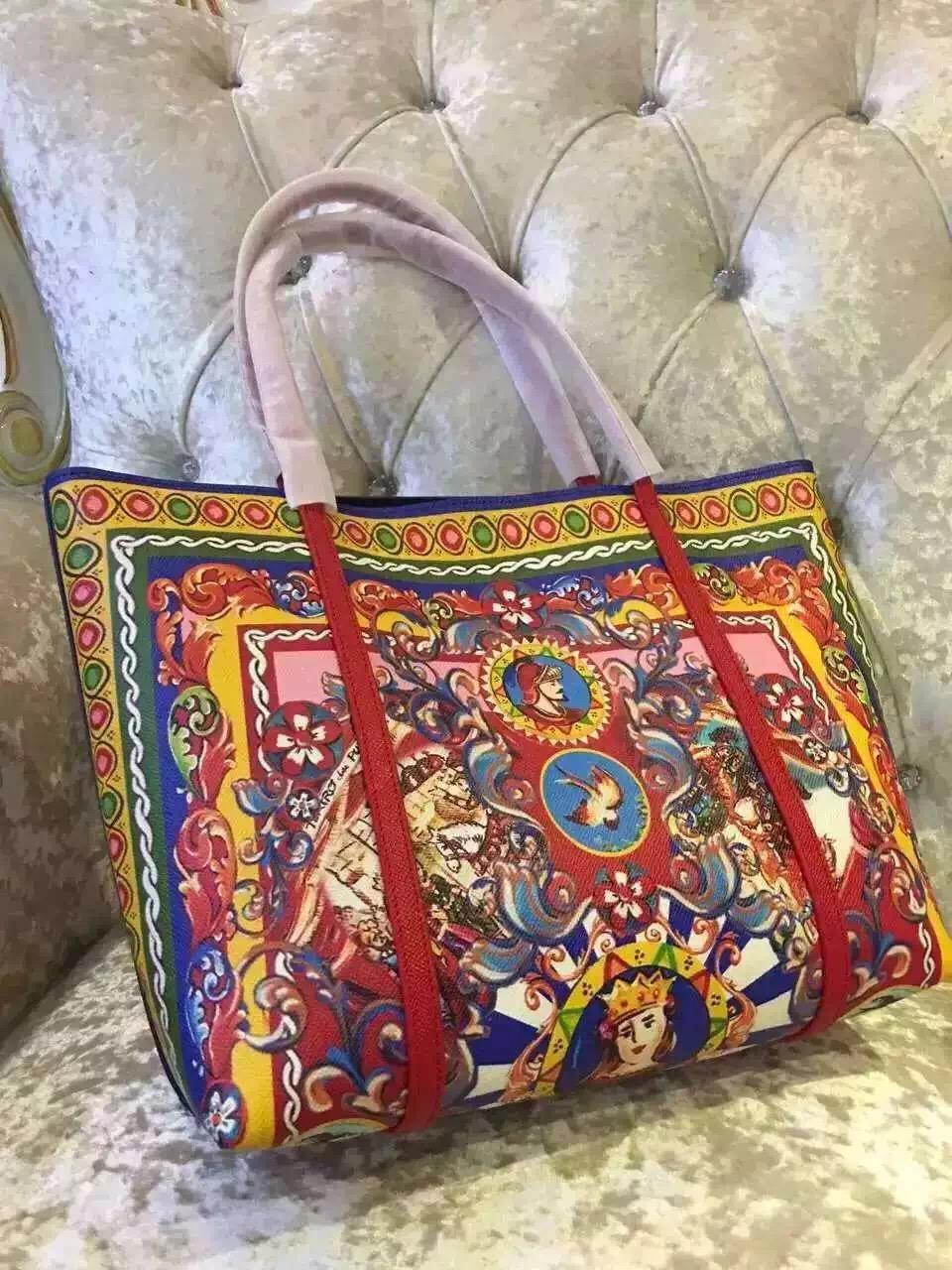 label printed 2016 new tote, sicily shopping bag(China (Mainland))
