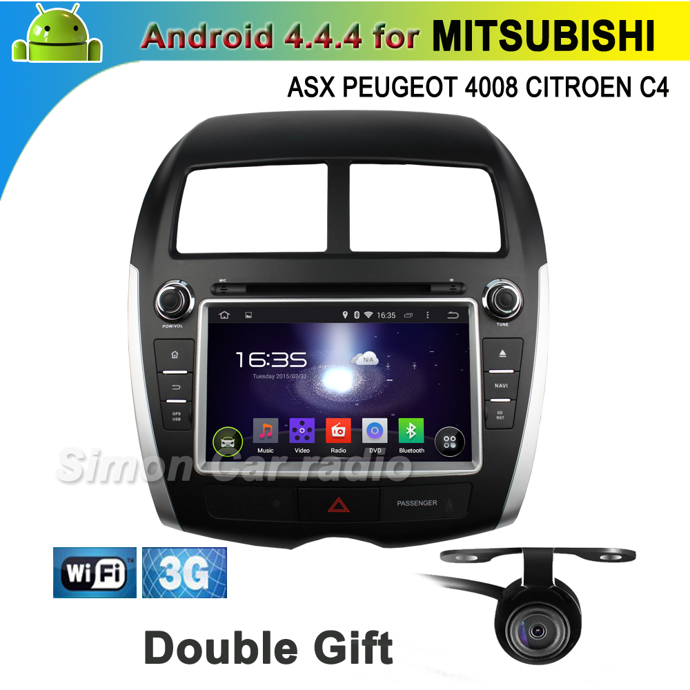 pure android 4.4 car dvd gps mitsubishi ASX 2010-2012 PEUGEOT 4008 2012 CITROEN C4 3g wifi cd usb sd radio dvr-in bt  -  Autoradio online-shop store