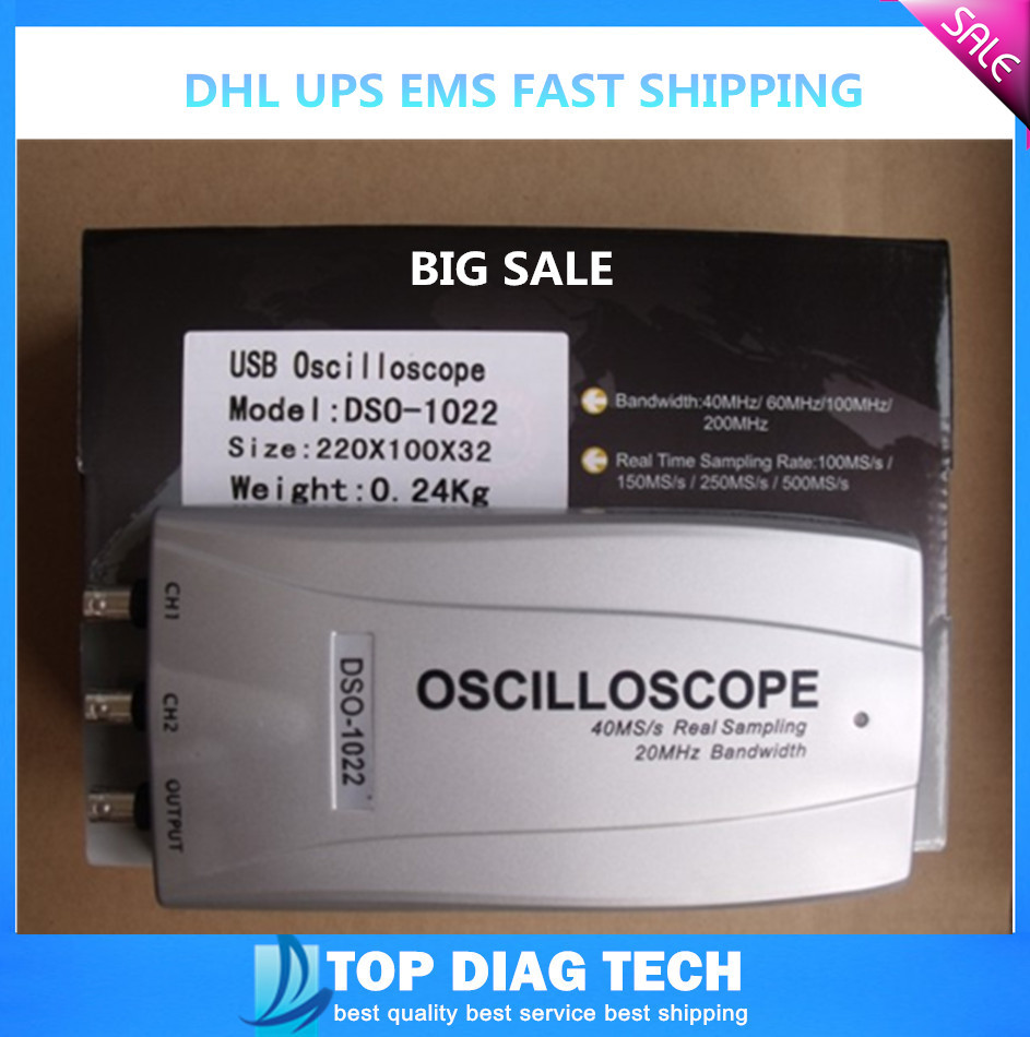 DHL Lowest price DSO1022 virtual dual trace oscilloscope USB bandwidth 20MHZ square wave output signal generator dual channel(China (Mainland))