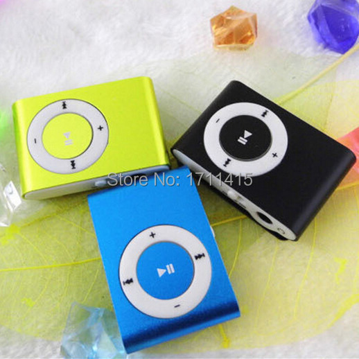 New Portable MP3 LCD Screen Metal Mini Clip MP3 Player With Micro TF/SD Card Slot function High Quality Earphone Music players(China (Mainland))